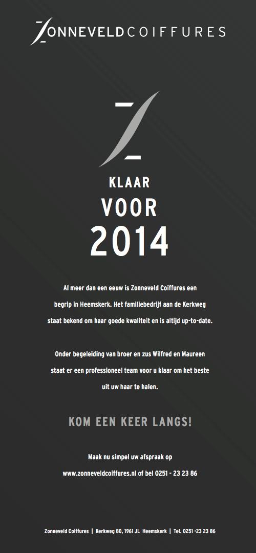 Zonneveld Coiffures is klaar voor 2014